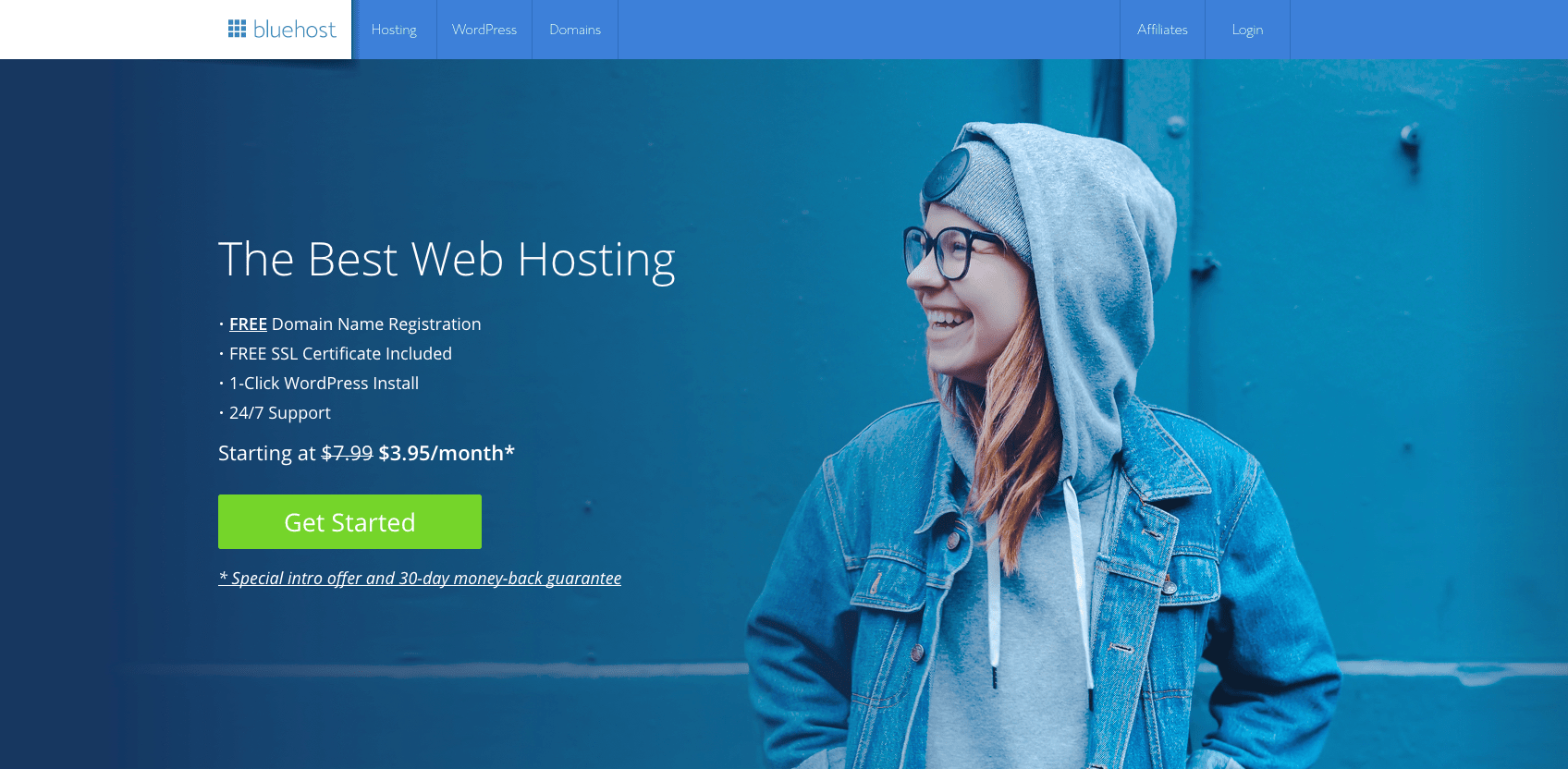 1-Bluehost HomePage