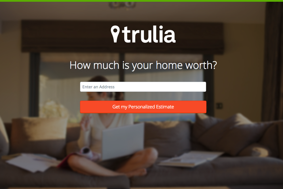 Trulia Landing-Page (Example)